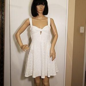 Forever 21 White Eyelet Lace Summery Dress